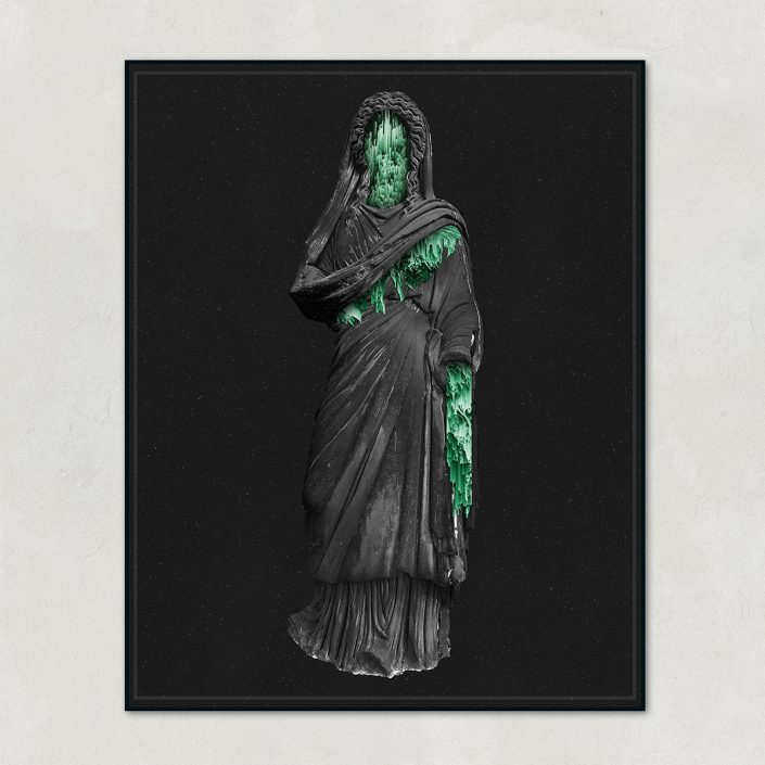 Antique Female Stone Statue Poster | Statues of The Vector